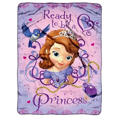 "Fleece Throw - Disney - Sofia The First - Ready To Be A Princes 46""x60"" Blanket"