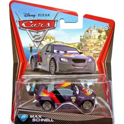 Disney/Pixar Cars 2, Movie Die-Cast Vehicle, Max Schnell #21, 1:55 Scale