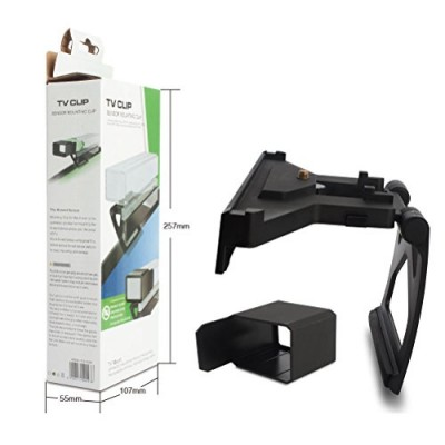 Kinect TV Mount, CBSKY® Adujustable TV Clip Holder for Xbox One, Xbox One S w Camera Cover