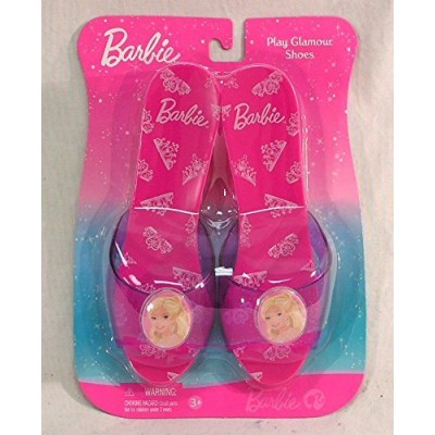 Barbie Play Shoes Pink with Crowns on Sole