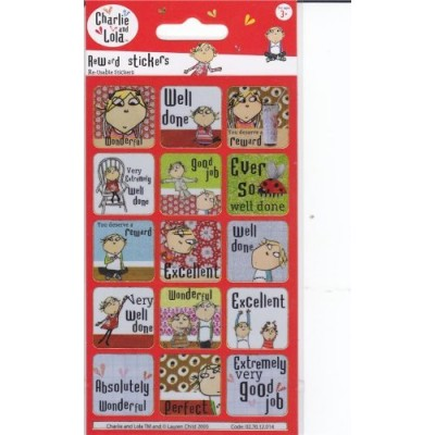 Charlie & Lola - Reward Sticker Pack (Stickers Only) Reusable {Sticker Style}