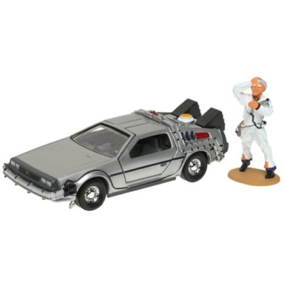 Back to the Future Delorean Corgi with Doc Brown Figure