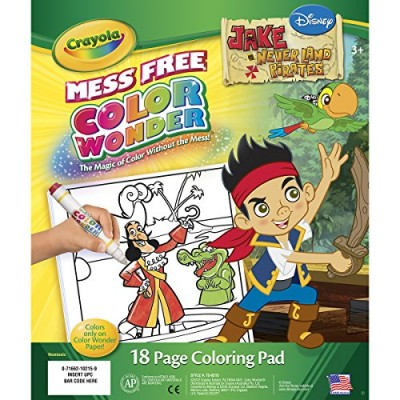 Crayola Jake and the Neverland Pirates 18 Pages Color Wonder Coloring Pad