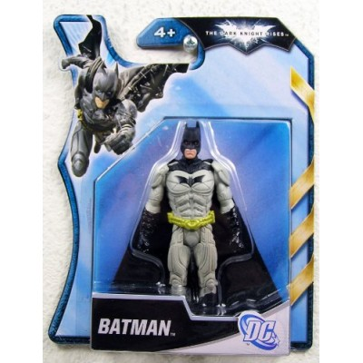 Batman Dark Knight Rises 4 Inch Action Figure Grey Armor Batman