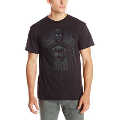 DC Comics Men's Batman Seek and Destroy T-Shirt, Black, Small