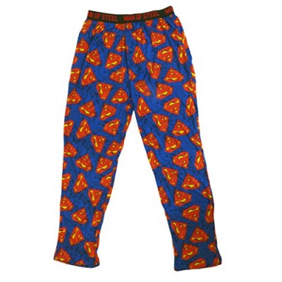 DC Comics Men's Cotton Superman Logo Lounge Pants S
