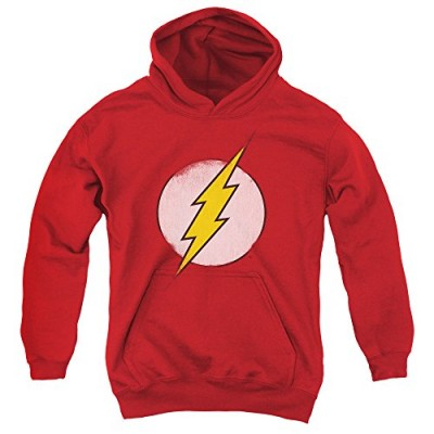 DC Comics Rough Flash Logo Big Boys Pullover Hoodie RED SM
