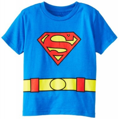 DC Comics Toddler costume Superman Logo Caped Tee, Blue, 2T