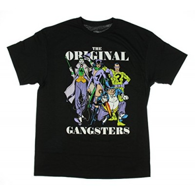 DC Comics Villains Original Gangsters Joker Penguin Graphic T-Shirt - Small