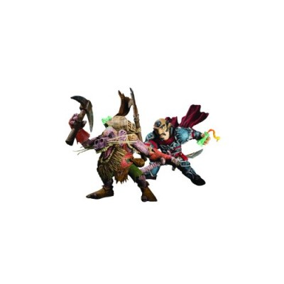 DC Unlimited World of Warcraft Series 8: Gnome Rogue: Brink Spannercrank vs. Kobold Miner: Snaggle Action Figure 2-Pack