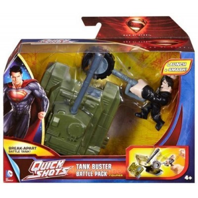 Superman MAN of Steel Quick Shots Launch & Attack Battle Pack Tank Buster General Zod