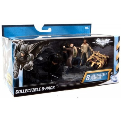 The Dark Knight RIses - Collectible 8 pack (Scarecrow, 2 Batmans, Catwoman, Camo Tumbler, The Tumbler, Bane, & The Bat)