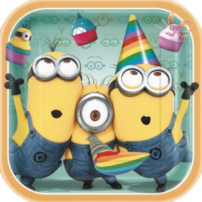 Square Despicable Me Dinner Plates, 8ct