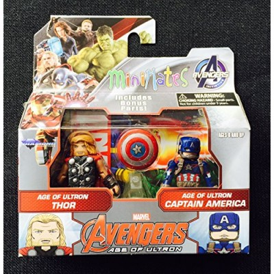 Marvel Avengers Age of Ultron Minimates Series 61 Thor with Captain America Minifigure 2-Pack