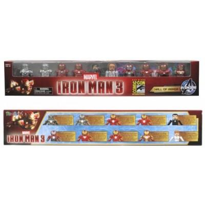 Marvel Minimates Iron Man 3 Hall of Armor Figure, 10-Pack