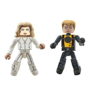 Marvel Minimates XMen First Class Exclusive Mini Figure 2Pack Emma Frost Havok by Diamond Select
