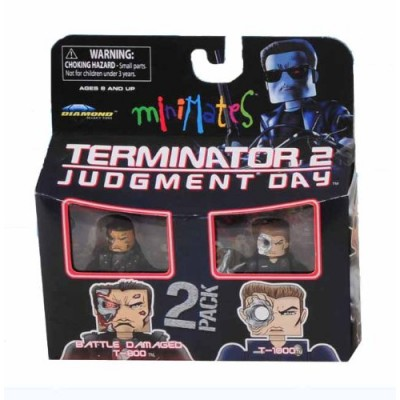 Terminator 2 Series 1 Minimates: Final Battle T-1000 & Battle Damaged T-800