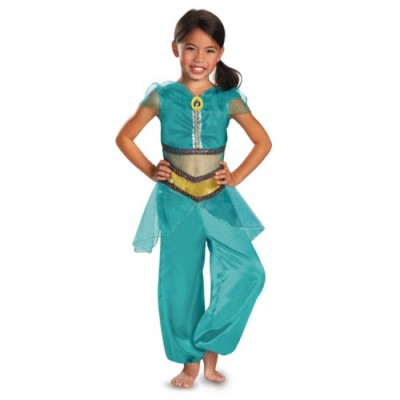 Disguise Disney Aladdin Jasmine Sparkle Classic Girls Costume, 3T-4T