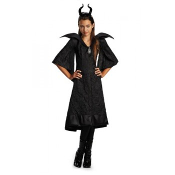 Disguise Disney Maleficent Movie Christening Black Gown Girls Classic Costume, Medium/7-8