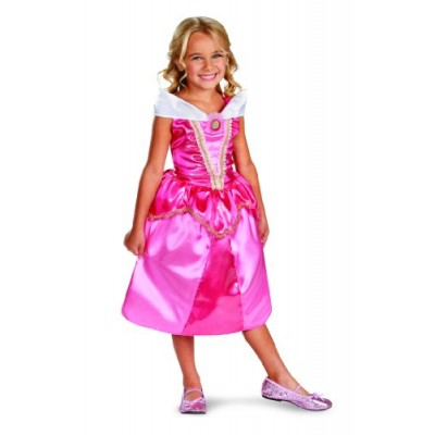 Disguise Disney Sleeping Beauty Aurora Sparkle Classic Girls Costume, 4-6X