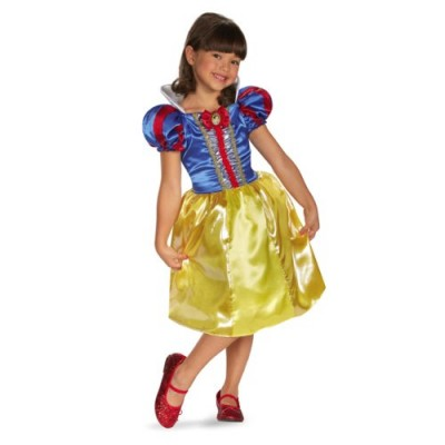 Disguise Disney Snow White Sparkle Classic Girls Costume, 4-6X