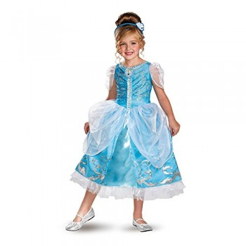 Disguise Disney's Cinderella Sparkle Deluxe Girls Costume, 3T-4T