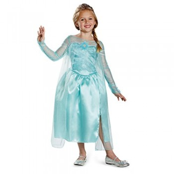 Disguise Disney's Frozen Elsa Snow Queen Gown Classic Girls Costume, Medium/7-8
