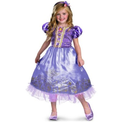 Disguise Disney's Tangled Rapunzel Sparkle Deluxe Girls Costume, 4-6X