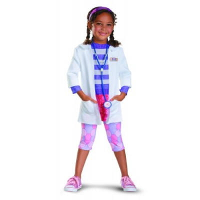 Disguise Girl's Disney Doc McStuffins Deluxe Costume, 3T-4T