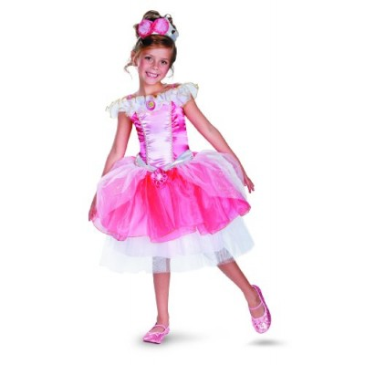 Disguise Girl's Disney Sleeping Beauty Aurora Tutu Prestige Costume, 3T-4T