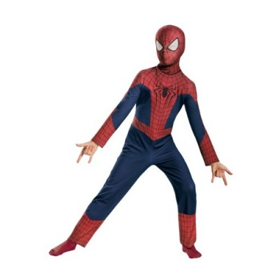 Disguise Marvel The Amazing Spider-Man 2 Movie Spider-Man Classic Boys Costume, Large/10-12