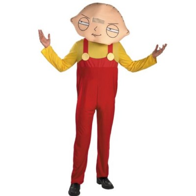 Disguise Men's Family Guy Stewie Costume, Yellow/Red, X-Large