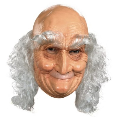 Adult Old Man Full Vinyl Mask Costume