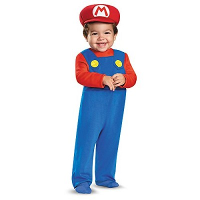 Disguise Baby Boys' Mario Infant Costume, Red, 12-18 Months