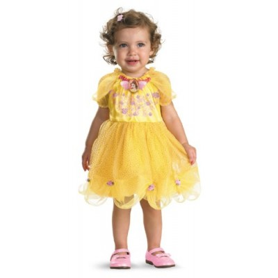 Disguise Baby Girl's Disney Beauty and The Beast Belle Costume, Yellow, 12-18 Months