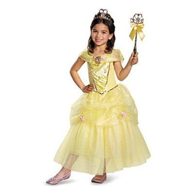 Disguise Belle Deluxe Disney Princess Beauty & The Beast Costume, Medium/7-8