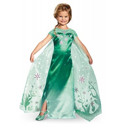 Disguise Elsa Frozen Fever Deluxe Costume, One Color, Large (10-12)
