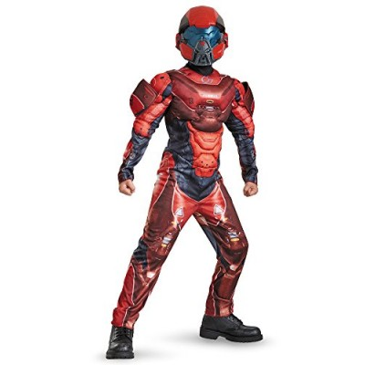 Disguise Red Spartan Classic Muscle Halo Microsoft Costume, Large/10-12