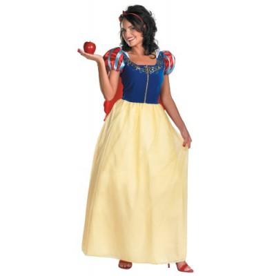 Disguise Women's Disney Snow White Deluxe Costume, Yellow/Red/Blue, Medium