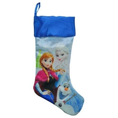 "Disney Frozen 20"" Slinky Satin Fully Printed Christmas Stocking"
