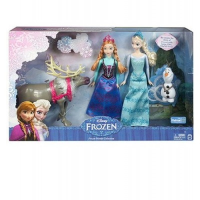 Disney Frozen Exclusive Doll Set Friends Collection [Anna, Elsa, Olaf & Sven]