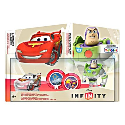 Disney Infinity TRU Exclusive Race to Space Pack with Crystal Lightning McQueen, Buzz Lightyear with C.H.R.O.M.E. Damage Increaser and Zurg's Wrath...