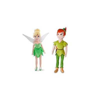 "Disney Peter Pan and Tinker Bell 20"" Plush Dolls"
