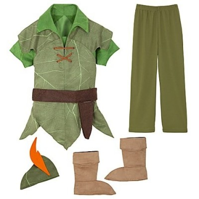 Disney Store Peter Pan Costume Size XXS [ 2 / 3 ] for Toddler boys 1 - 3 years old