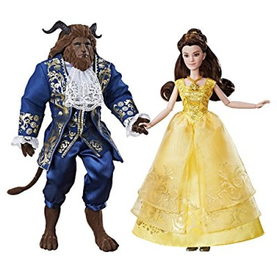 Disney Beauty and the Beast Grand Romance Doll Set ~ Belle & Beast