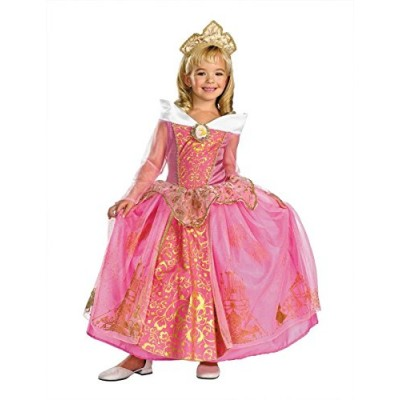 Storybook Aurora Prestige Costume - Medium (7-8)