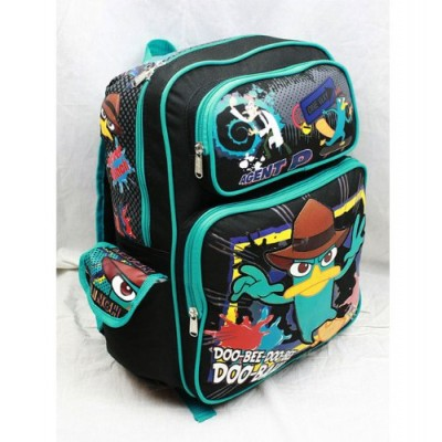 "16"" Phineas and Ferb Doo Bee Doo Bee Large Backpack-tote-bag-school"