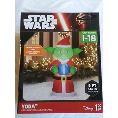 Christmas Airblown Inflatable Star Wars Yoda 5 Feet Tall
