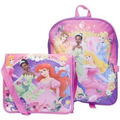 Disney 5 Princess Large Backpack and Detachable Messenger Tote Bag