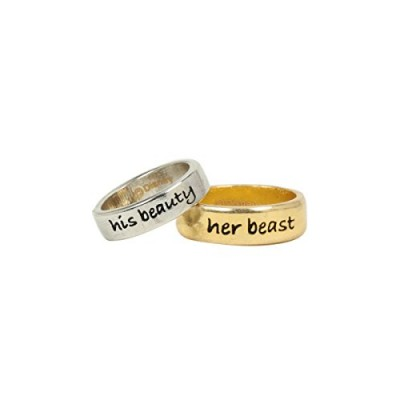 Disney Beauty And The Beast Ring Set